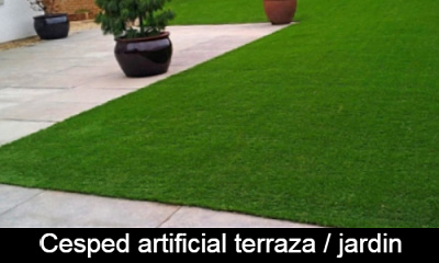 Cesped artificial terraza jardin